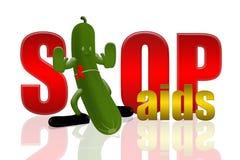 Aides de concombre et d'arrêt illustration de vecteur