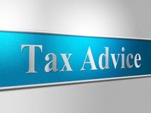 Aides de contributions indirectes de moyens de conseil d'impôts et FAQ illustration stock