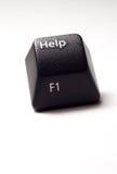 Aidez le bouton du clavier d'ordinateur Photos stock