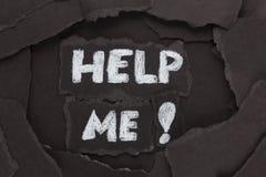 Aidez-moi ! Image stock