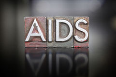 AIDS Awareness Letterpress Royalty Free Stock Photography