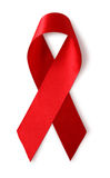 Aids awareness red ribbon Stock Photos