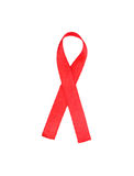 Aids awareness red ribbon. Over the white royalty free stock photo
