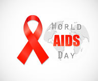 Aids Awareness Red Ribbon. Stock Image