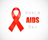 Aids Awareness Red Ribbon. Stock Images