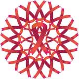 AIDS Awareness Ribbon Wreath Royalty Free Stock Photos
