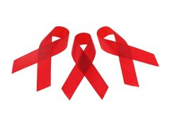 AIDS awareness ribbons Royalty Free Stock Image