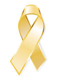 Aids awareness yellow ribbon Stock Photography
