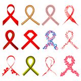 Aids Awarness Ribbon Royalty Free Stock Image