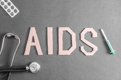 Aids background Royalty Free Stock Photography