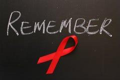 Aids-Bewusstsein erinnern sich Lizenzfreies Stockbild