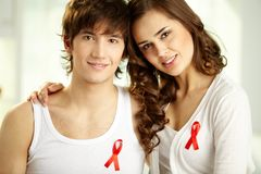AIDS campaign Royalty Free Stock Images