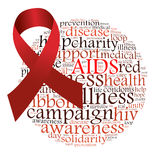 Aids campaign. Info-text graphics and arrangement concept on white background Royalty Free Stock Photo