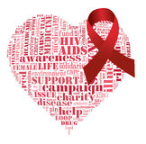 Aids campaign. Info-text graphics and arrangement concept on white background Stock Photography