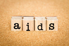 Aids Concepts. Concept of Alphabet Stamp with letters forming word : Aids Stock Images