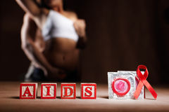 AIDS and condom Royalty Free Stock Photography