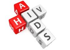 AIDS e HIV no cubo ilustração do vetor