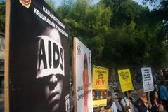AIDS HIV ACTIVIST Stock Image