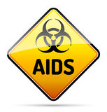 AIDS HIV Biohazard virus danger sign with reflect and shadow on Royalty Free Stock Images
