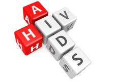 AIDS and HIV in cube Royalty Free Stock Photography
