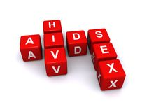 Aids HIV and sex Royalty Free Stock Photos