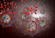 Aids HIV Virus Royalty Free Stock Photography