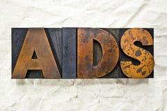 AIDS Letterpress Stock Images