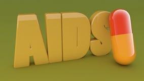AIDS medicine capsules Stock Photos