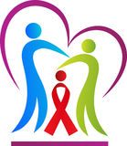 Aids people care. A vector drawing represents aids people care design Stock Photography