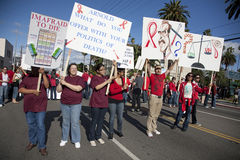 AIDS Project Los Angeles Rally Royalty Free Stock Photos