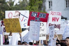 AIDS Project Los Angeles Rally Royalty Free Stock Photography