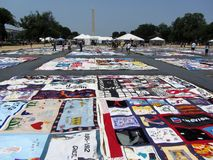 Aids Quilt at the Mall Royalty Free Stock Images