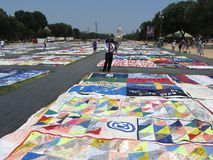 Aids Quilt in Washington D.C. Stock Photos