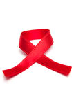 AIDS red ribbon Royalty Free Stock Image