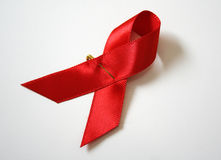 AIDS red ribbon Stock Photography