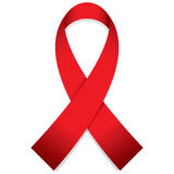 Aids red ribbon Stock Photos