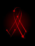 AIDS ribbon Royalty Free Stock Photo