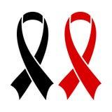 AIDS ribbon black Royalty Free Stock Images