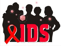 Aids ribbon illustration Royalty Free Stock Image