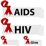 AIDS Ribbon Stock Image