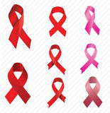 Aids ribbon set Royalty Free Stock Photo