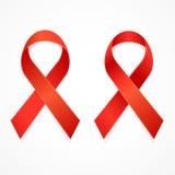 AIDS Ribbon Set. Vector Royalty Free Stock Image