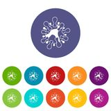 AIDS virus set icons Stock Photo