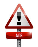 Aids warning road sign illustration design Stock Photo