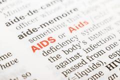 Aids-Wort-Definition Lizenzfreie Stockfotos