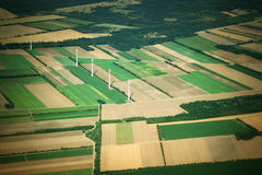 Aierial view from the plane Royalty Free Stock Images