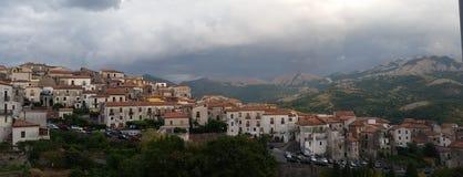 Aieta маленький город Калабрии Стоковое Изображение RF