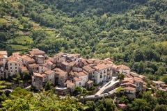 Aieta. Historical village Aieta at Calabria, Italy stock images