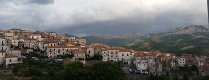 Aieta a little city of Calabria. In Italy royalty free stock image