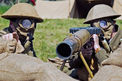 AIF machine gunners Royalty Free Stock Images